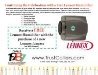 Receive a FREE Lennox Humidifier